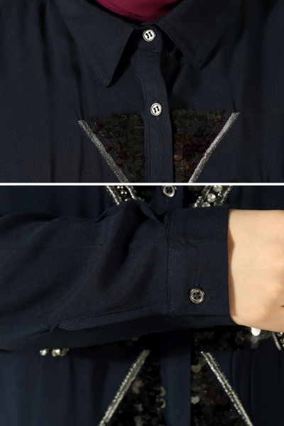 Dantel Robalı İncili Gömlek