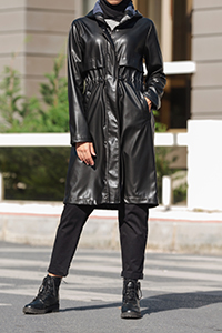 Hooded Pocket Zippered Raincoat