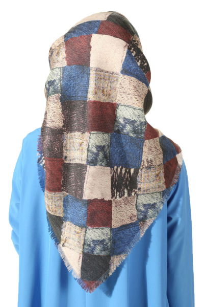 PATTERNED WINTER SCARF