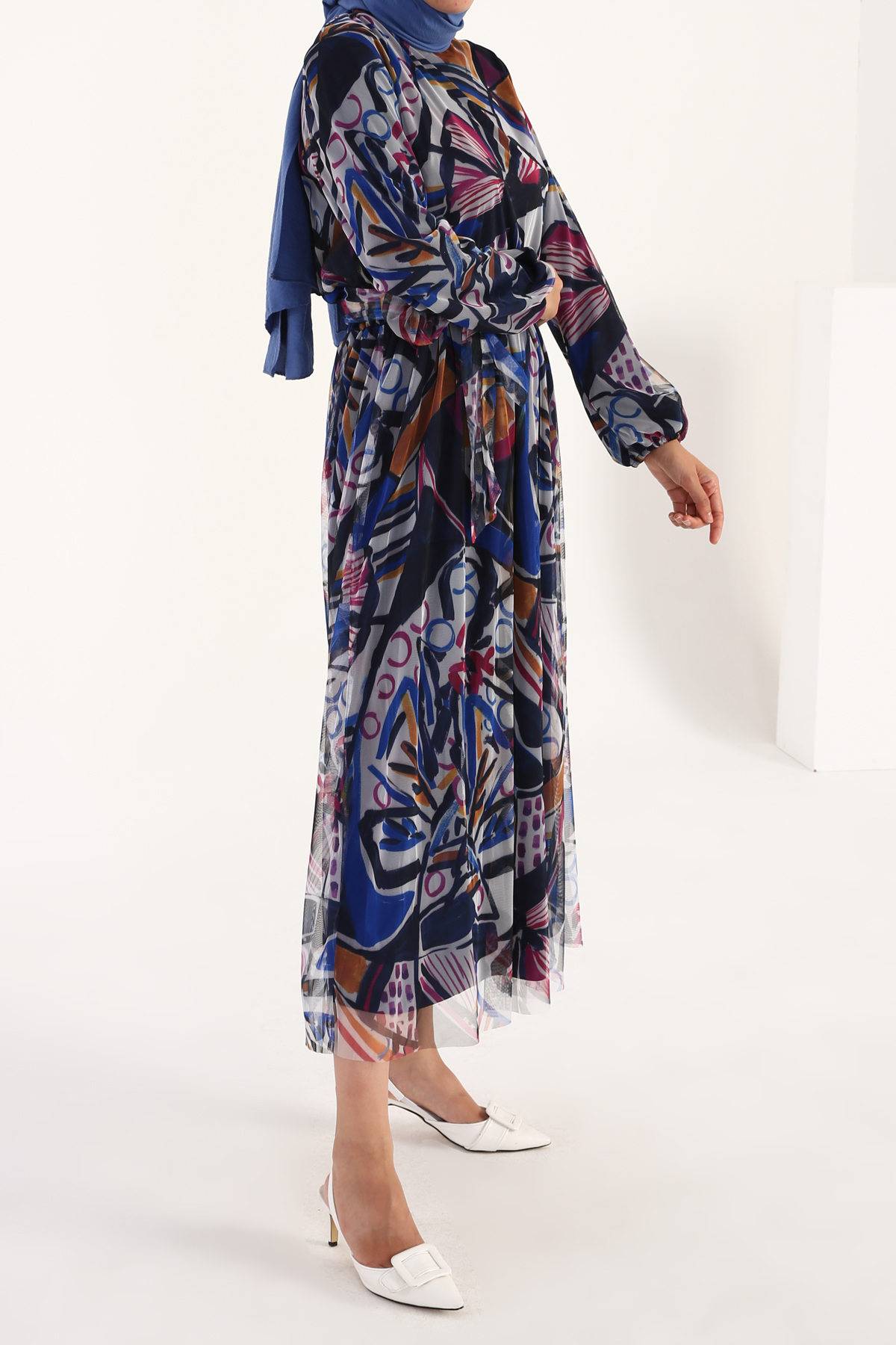 Self Belted Floral Maxi Dress