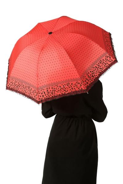 Desenli Puantiyeli Şemsiye