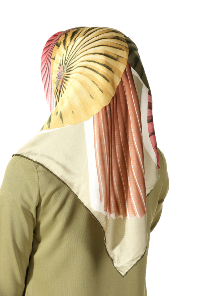 PATTERNED RAYON SCARF