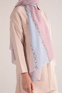 PATTERNED CHIFFON SHAWL