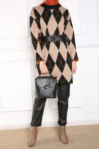 PATTERNED KNITWEAR TUNIC
