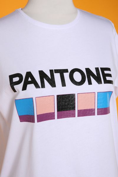 Pantone Baskılı Kısa Kol T-Shırt
