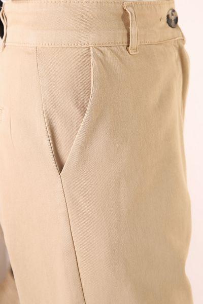 Doğal Kumaş Bol Paça Pantolon