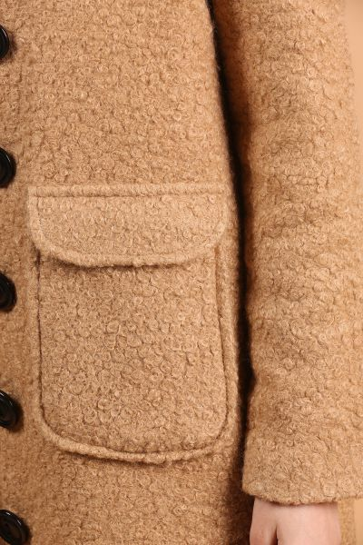 NATURAL FABRIC OVERCOAT