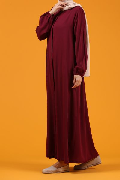 NATURAL FABRIC ABAYA