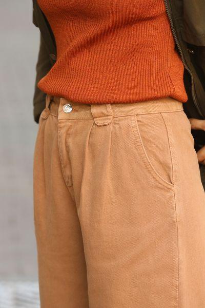 Doğal Kumaş Cepli Pantolon