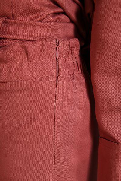 Yanlardan Bağlamalı Pantolonlu Takım