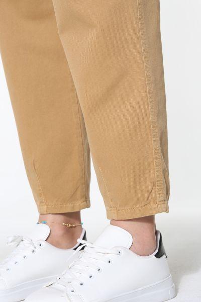 Pileli Slouchy Pantolon