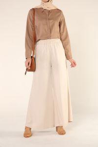 Doğal Kumaş Bol Paça Salaş Pantolon
