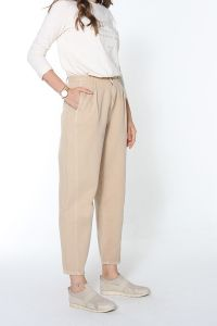 NATURAL FABRIC SLOUCHY HIJAB PANTS