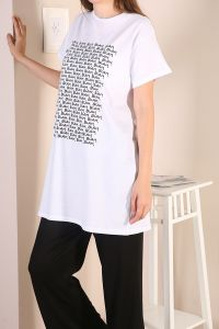 NATURAL FABRIC T-SHIRT