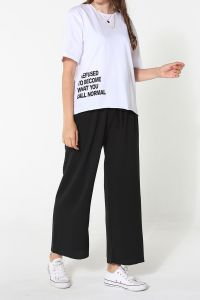 Doğal Kumaş Baskılı T-Shirt