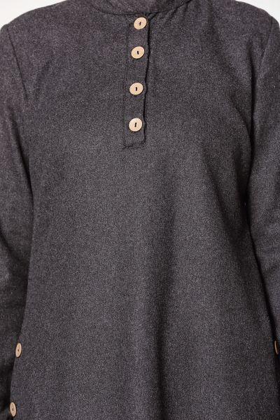 Düğmeli Doğal Kumaş Tunik