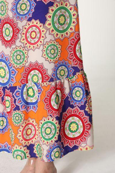 Dokuma Viskon Desenli Elbise