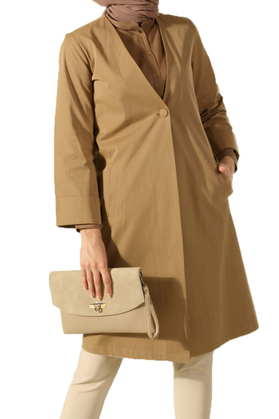 DOUBLE SLEEVE TRENCH COAT WITH BUTTON