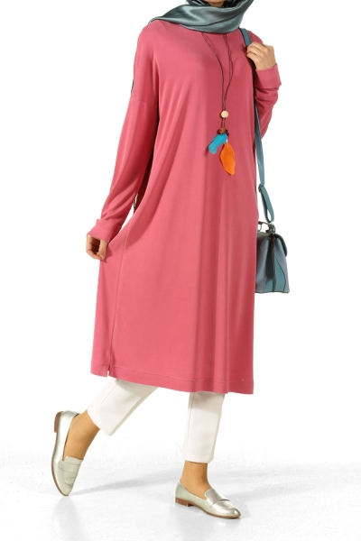 Double Sleeve Tunic with Necklace