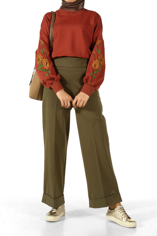 Duble Paça Pamuklu Pantolon