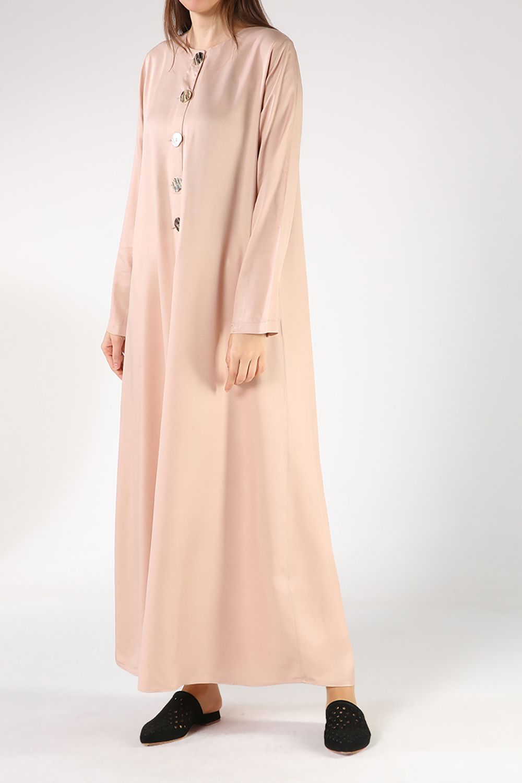 Button Front Viscose Maxi Dress