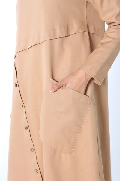 Button  Detail Comfortable Mold Tunic