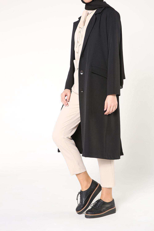 Düğmeli Cepli Ceket