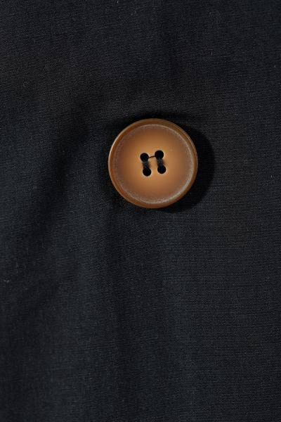 Düğmeli Cepli Trenç