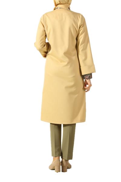 Düğmeli Duble Kol Ceket