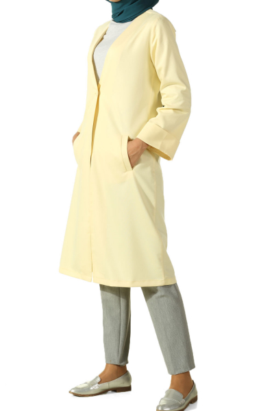 DOUBLE SLEEVE JACKET WITH BUTTON