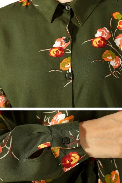 Düğmeli Kuşaklı Elbise