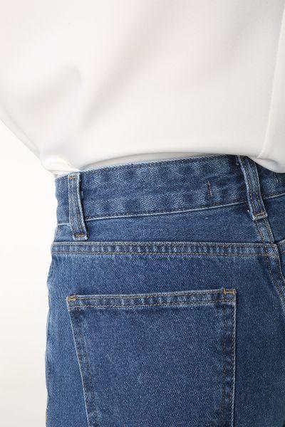 Doğal Kumaş Düğmeli Mom Pantolon