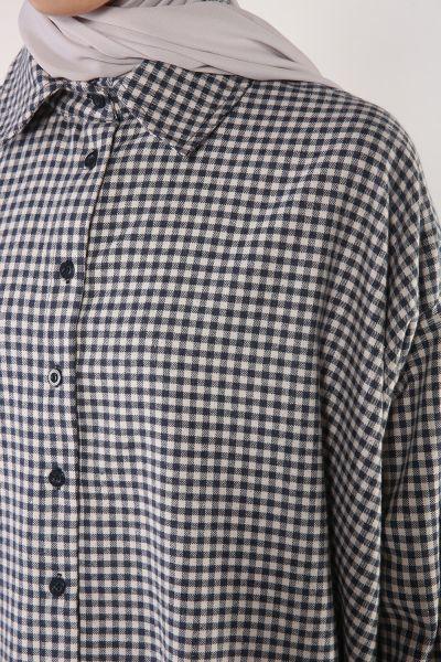 Düğmeli Salaş Gömlek