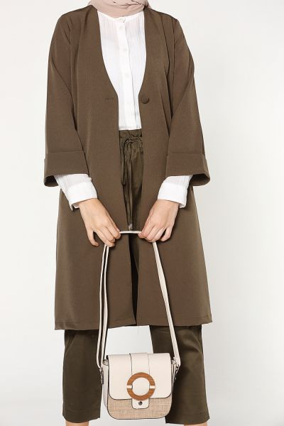 BUTTONED LONG JACKET