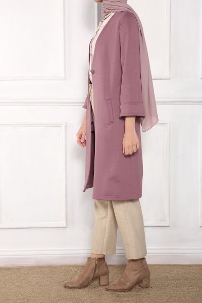 Buttoned Pocket Long Dress