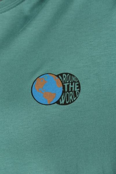 Dünya Baskılı Penye Tunik