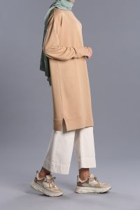 Combed Cotton Tunic Sweatshirt