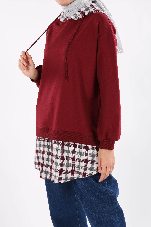 Hooded Sweatshirt Tunic