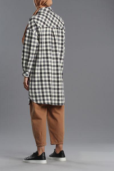 Pocket Plaid Shirt Tunic