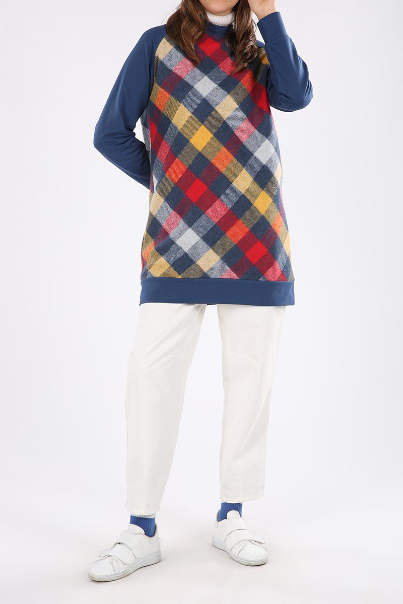 Plaid Combed Cotton Tunic