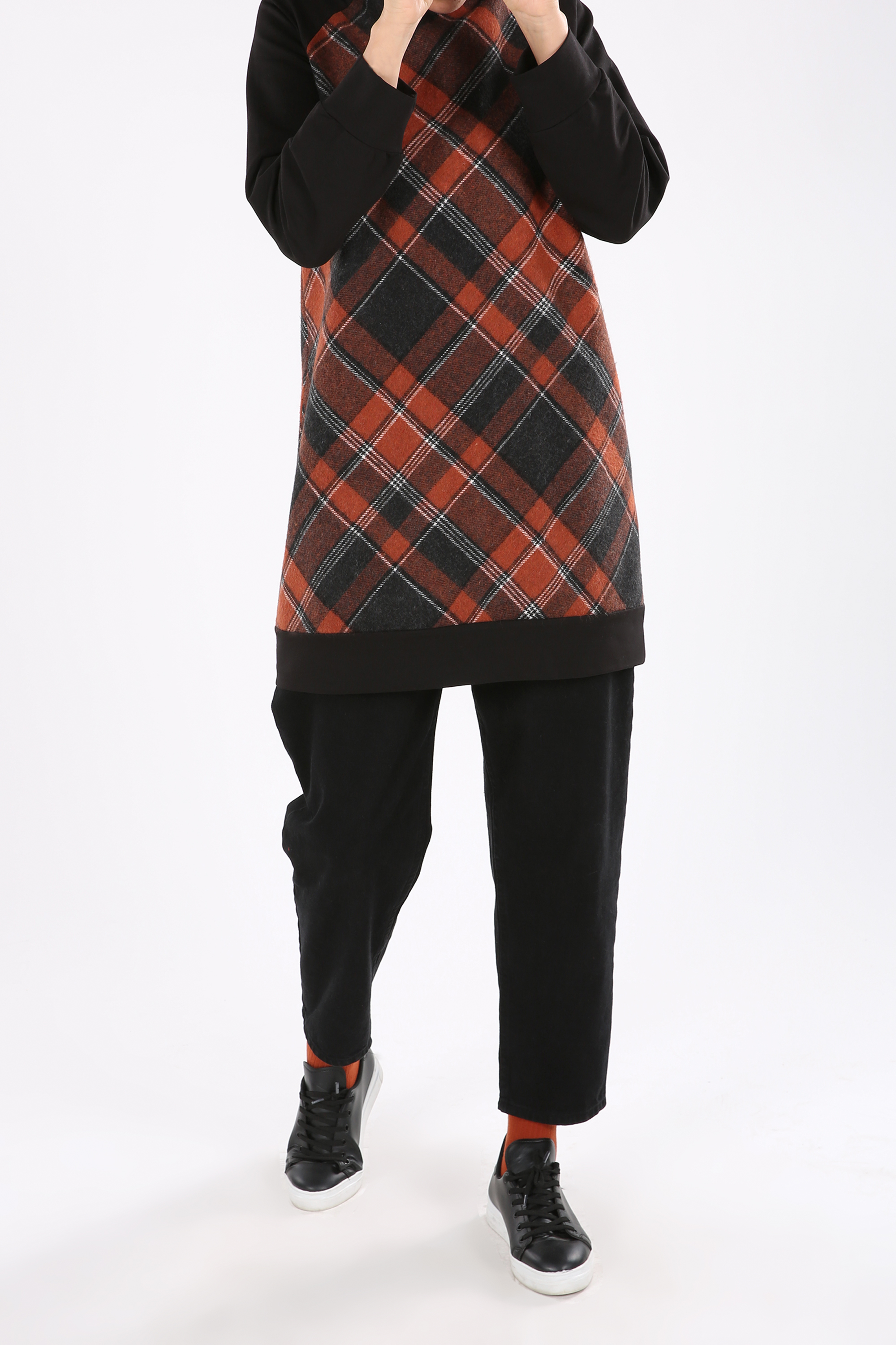 Plaid Combed Cotton Tunic