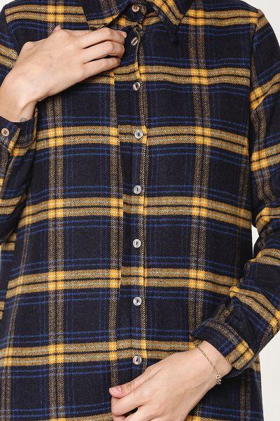 Gizli Patlı Ekose Oduncu Gömlek