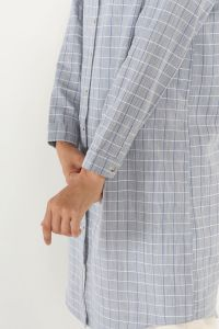 Pamuklu Ekose Gömlek Tunik