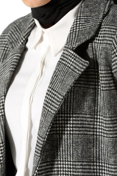 PLAID LINED JACKET