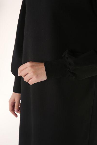 Etek Ucu Ekoseli Elbise