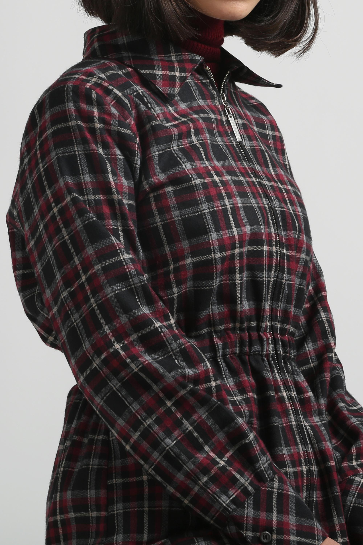 Plaid Zippered Tunic