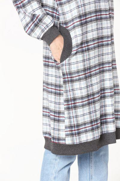 Plaid Striped Cardigan