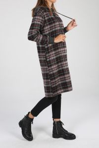 Plaid Hooded Tunic