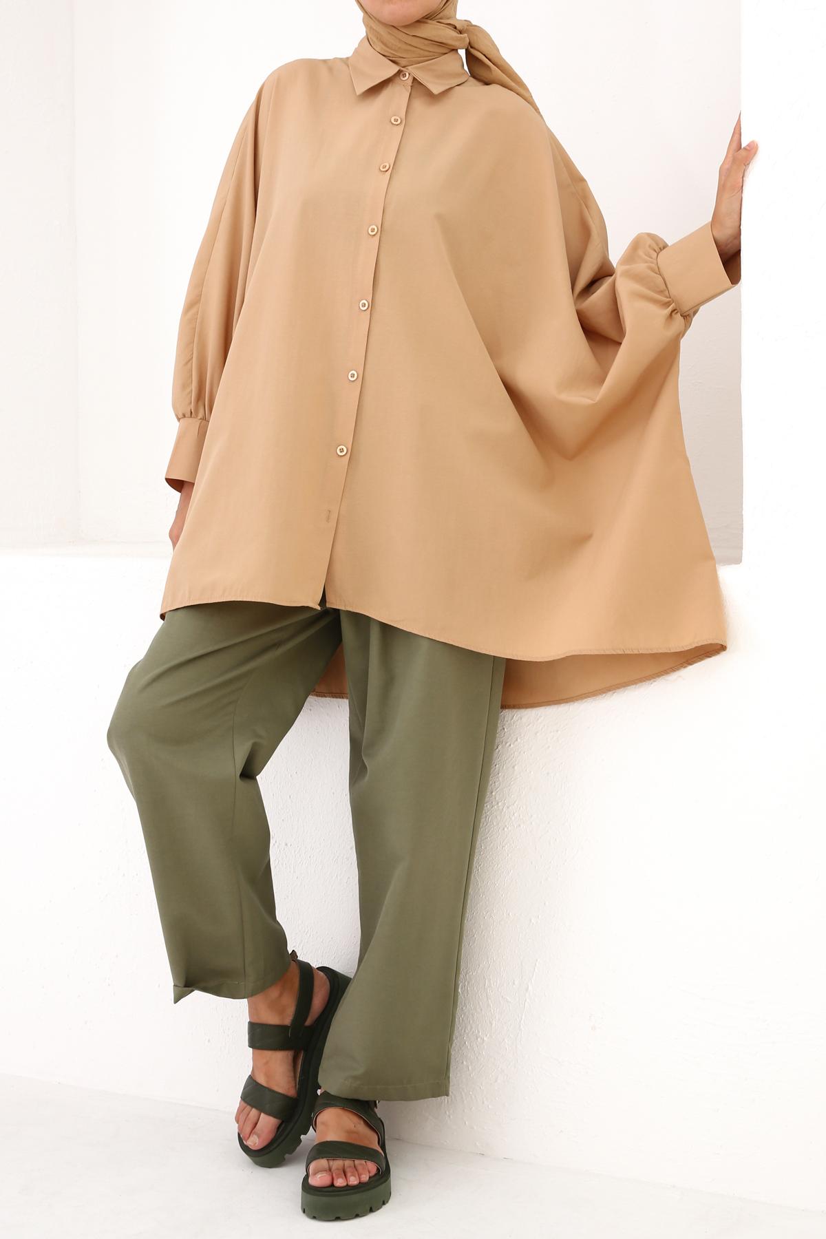 Oversize Cotton Shirt Tunic