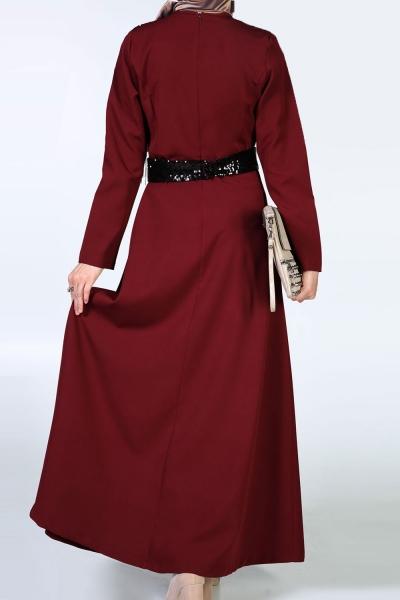 Payet Detaylı Elbise
